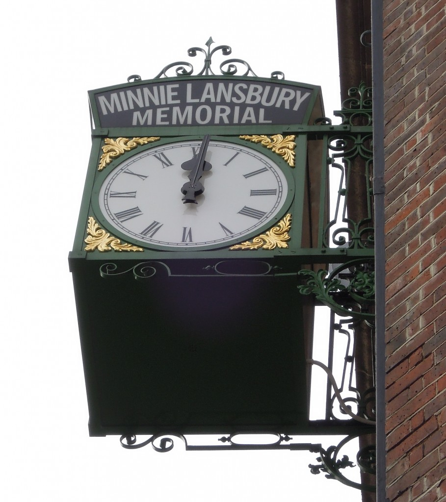 The memorial to Minnie Lansbury
