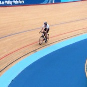 Racing round the velodrome
