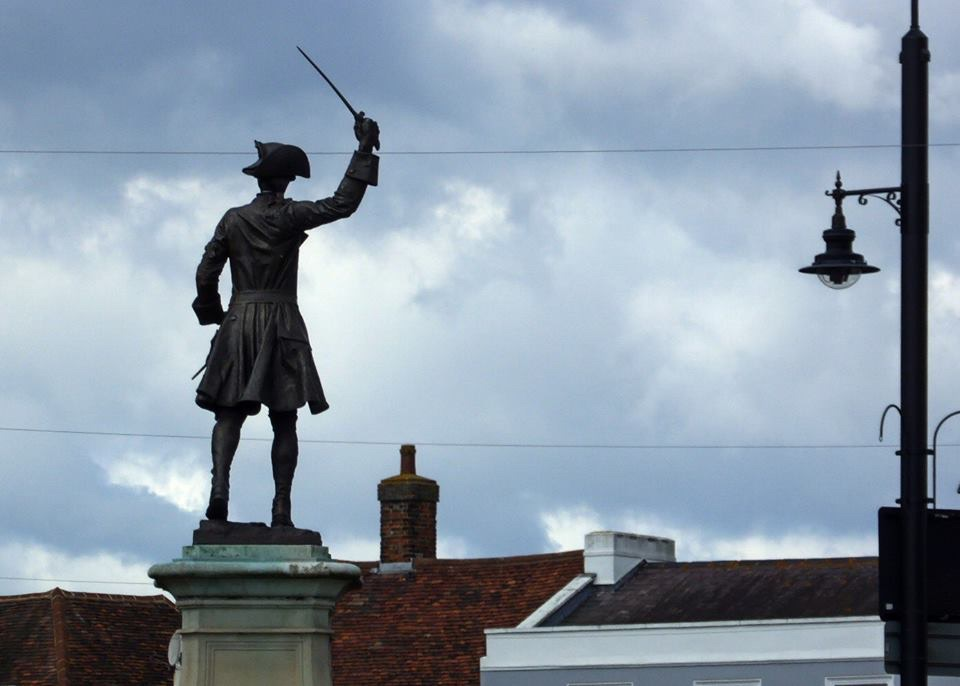 General Wolfe waving us off from Westerham
